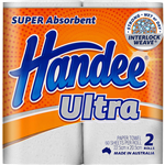 HANDEE ULTRA PAPER TOWEL 2PLY 60 SHEETS PACK 2