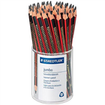 STAEDTLER 128 JUMBO TRIANGULAR GRAPHITE PENCILS 2B TUB 50