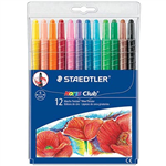 STAEDTLER 221 NORIS CLUB TWIST CRAYONS ASSORTED COLOURS PACK 12
