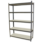 ACERACK STALLION SHELVING UNIT 5 SHELVES LOAD CAPACITY 250KG PER SHELF DARK GREY