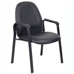 BRONTE VISITORS CHAIR MEDIUM BACK PU BLACK