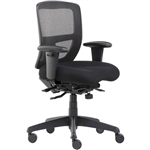 INITIATIVE SERENITY ERGONOMIC HIGH MESH BACK CHAIR ARMS BLACK