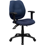 INITIATIVE AMBITION HIGH BACK OPERATOR CHAIR ARMS BLUE