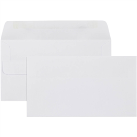 CUMBERLAND 11B ENVELOPES WALLET PLAINFACE SELF SEAL 80GSM 90 X 145MM WHITE BOX 500