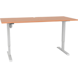 CONSET 501-33 ELECTRIC HEIGHT ADJUSTABLE DESK 1500 X 800MM BEECH/WHITE