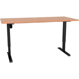 CONSET 501-33 ELECTRIC HEIGHT ADJUSTABLE DESK 1800 X 800MM BEECH/BLACK